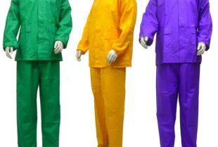 áo mưa hàn quốc bộ rời màu xanh lá tím vàng