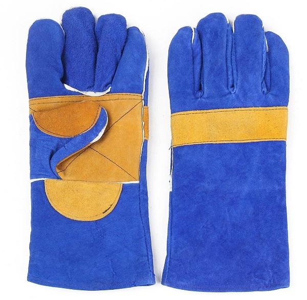 Găng tay da dài cho thợ hàn chịu nhiệt chống cháy