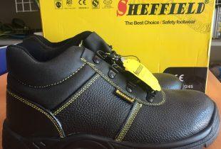 Giày bảo hộ SHEFFIELD chỉ đen đế PU cao cổ xuất xứ Hong Kong