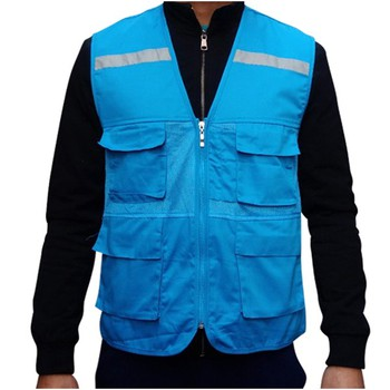 Áo phản quang túi hộp gile phối vải lưới màu xanh ngọc