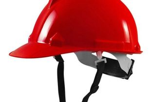 Mũ bảo hộ Thùy Dương N40 màu đỏ có khóa vặn