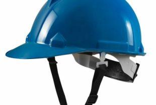 Mũ bảo hộ Thùy Dương N40 màu xanh blue có khóa vặn