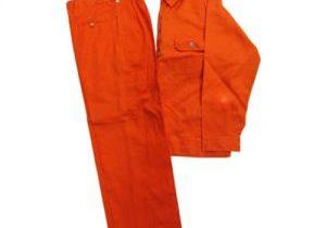 Quần áo bảo hộ lao động túi thường vải kaki màu vàng cam