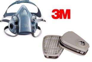 Bán mặt nạ phòng độc 3M7501 của Mỹ sử dụng 2 phin lọc.