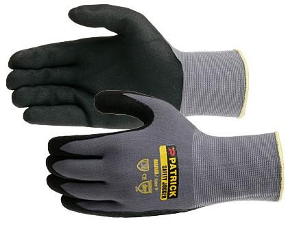 Găng tay JOGGER All-Flex phủ nhựa lòng màu đen