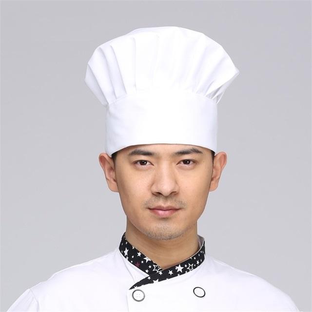 Mũ đầu bếp vải hình nấm màu trắng giá rẻ HanKo