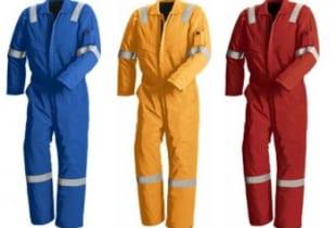 Quần áo chống cháy liền quần vải Nomex