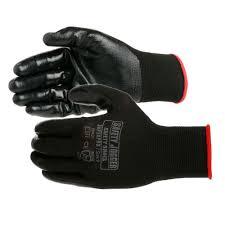 Bán găng tay JOGGER Superpro phủ nhựa lòng màu đen
