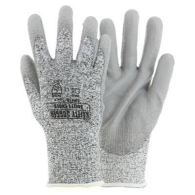 Găng tay JOGGER Shield phủ nhựa lòng màu xám