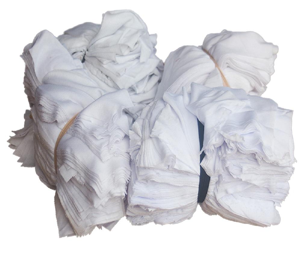 Giẻ lau công nghiệp vải màu trắng cotton (15×20)cm