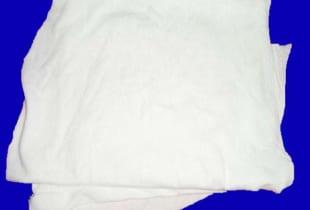 Giẻ lau công nghiệp vải màu trắng cotton khổ (20×35)cm