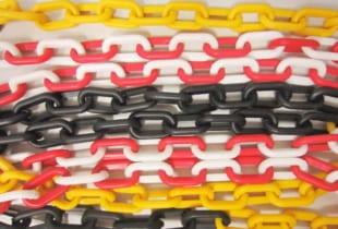 Bán dây xích nhựa đỏ trắng vàng đen